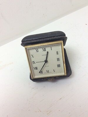 Superb Vintage Cortland Swiss Made 8 Days Travel Clock Parts/Repair Tiffany