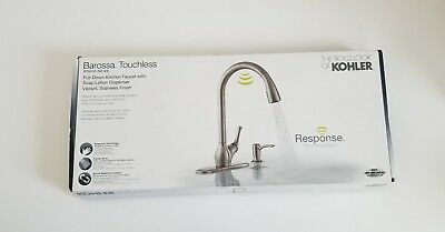 Kohler Barossa R78035 Sd Vs Touchless Stainless Steel Pull Down Kitchen Faucet