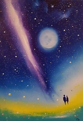 """""""Just Us"""", a large, colourful & romantic original oil painting, by Phil Broad"""