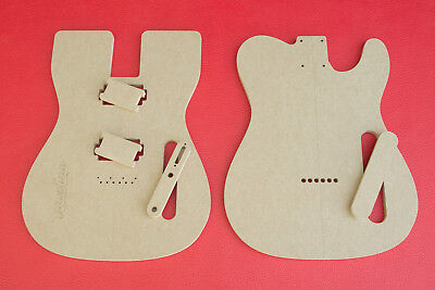 "Telecaster Router Templates Dual 2 Humbucker PAF 1/2"" Thick MDF"