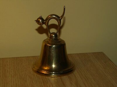 collectable cat - art deco hand bell with beautiful tone - rare - original deco