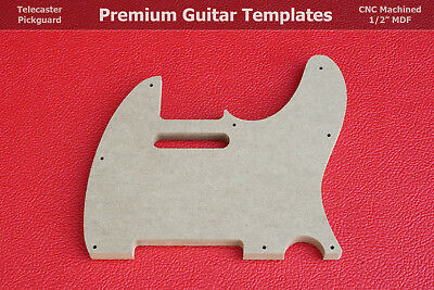 """Telecaster Pickguard Router Template 5 and 8 Hole CNC TELE 1/2"""" MDF 0.5"""""""