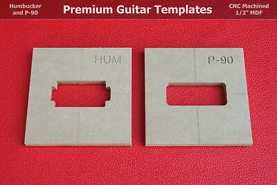 "Humbucker and P-90 Pickup Router Template Combo Pack PAF CNC 1/2"" MDF 0.5"""
