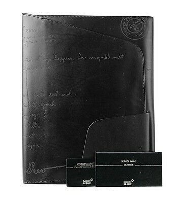 Montblanc Limited Writers Edition G.b.shaw Leather Conference Folder New No Box
