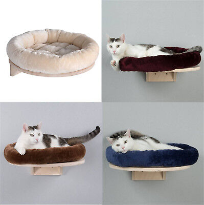 Wall Mounted Cat Bed Shelf with Washable Cushion Polyester Snuggle + FREE GIFT