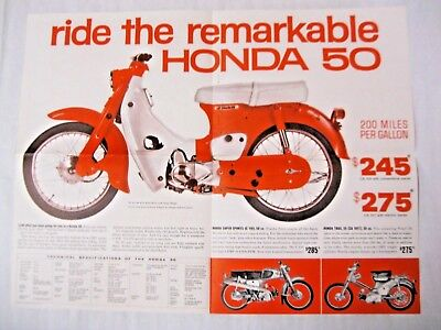 ROLL OUT THE FUN Honda Motorcycle Brochure 1963