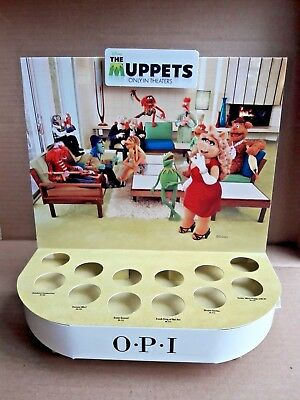 OPI Nail Polish Display featuring Miss Piggy and Muppets The Muppets Movie