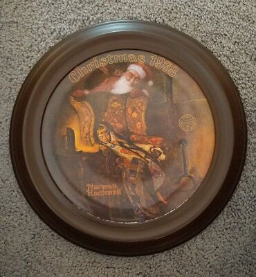 Norman Rockwell Christmas Dream 1978 Collector Plate with Frame