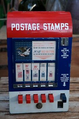 Rare Vintage Hilsum Sales Corp U.S. Postage 5 Slot Deluxe Stamp Vending Machine