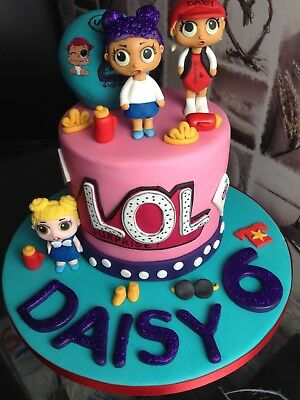 LOL SURPRISE Dolls Edible Wafer Cup Cake Toppers Standing ...