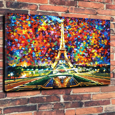 """""""Paris Of My Dreams"""" Abstract Art Printed Canvas Picture A1.30""""x20"""" 30mm Deep"""