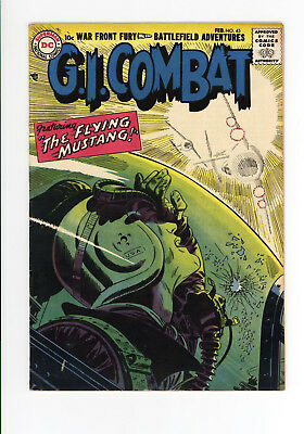 G.i. Combat #45 - Scarce Early Dc War - Higher Grade - 1957 -The Flying Mustang!
