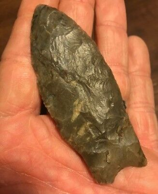 Authentic Kentucky Paleo Fluted Clovis Arrowhead Artifact