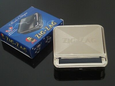 ZIG-ZAG 70mm Stainless Steel Cigarette Smoking Rolling Machine Roller Box Case
