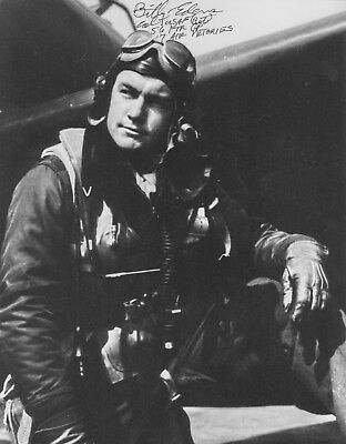 Billy Edens Wwii Ace Signed 11X14 56Th Fighter Group Huge Zemke's Wolfpack