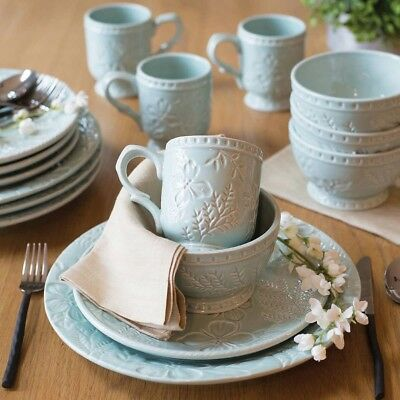 Fitz and Floyd English Garden Dinnerware 16 Piece Set Kitchen Dishes Coffee Home & FITZ AND Floyd Toulouse Blue 16 Piece Dinnerware Set - $123.17 ...