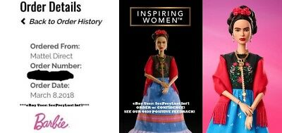 Barbie Inspiring Women Limited Series Frida Kahlo Collector's Doll - Brand New