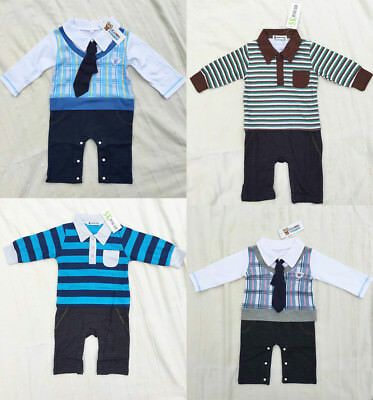CLEARANCE ! FOUR NEW PIECES PACKAGE Newborn Baby Boy One-piece Romper 12-18M