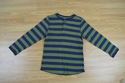 Green Dog Boys Youth Striped Long Sleeve Thermal Weave Shirt Size 7X J-T-P