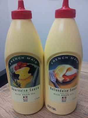 Hollandaise Sauce 1L & Bearnaise Sauce 1L By French Maid In Handy Squirt Bottles