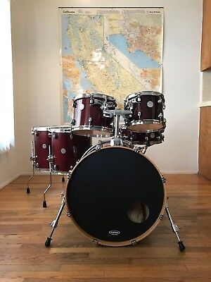 Mapex Meridian Maple 6 Piece Drum Set In Cherry Red