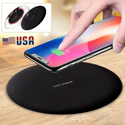 Qi Wireless Fast Charger Charging Pad for Samsung Galaxy Note 8 S8 Plus iPhone X