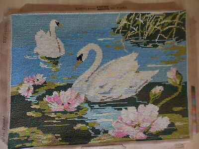 Tapestry S E G Collection De Paris Les Cygnes Cygnets Completed 929.11