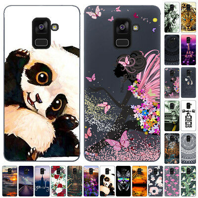 For Samsung Galaxy S10 S9+ A6 A8 2018 Slim Silicone Painted Soft TPU Case Cover