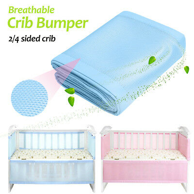 Infant Baby Air Cot Bumper Mesh Breathable Soft Crib Bed Bassinet Protection