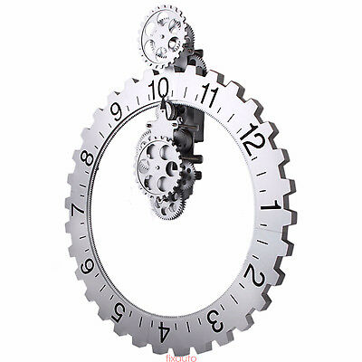 Retro Wheel Wall Clock Steampunk Time Keeper Gear Operated for Home Decor STT3