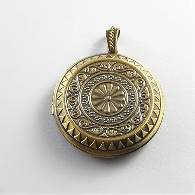 2pcs Antique Bronze Brass Pendant Lockets Flower Pattern Jewellery Crafts 51548