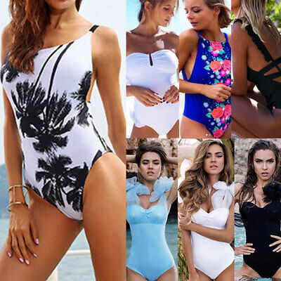 Women's One Piece Monokini Push Up Padded Bikini Swimsuit Swimwear Bathing V