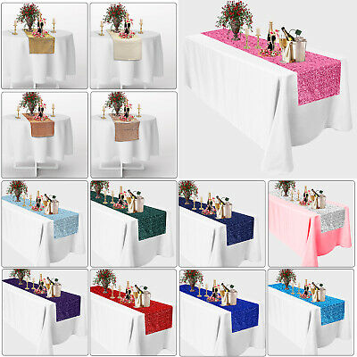 Sparkly Glitter Sequin Table Runners 12 X 108 Inch for Party Wedding Accessory