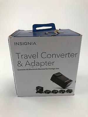 Insignia Travel Converter and Adapter Black