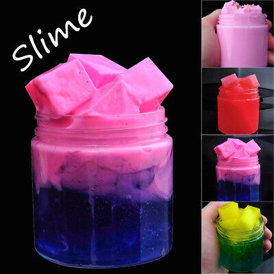 Home Fruit Puree Cotton Mud Mixing Cloud Slime Putty Scented Stress Kids Clay Toy