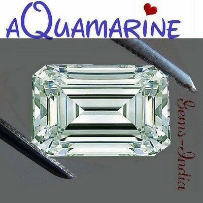 Masterpiece Collection : Flawless Top Faceted AAA Natural Aquamarine (8mmx6mm)