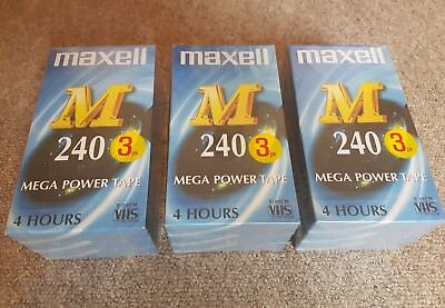 Maxell M240 VHS 240min (4 hours) VCR Video Tapes