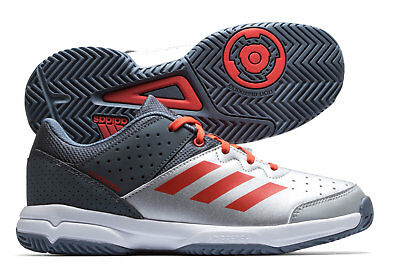 adidas Court Stabil Kids Netball Trainers Sports Shoes Grey Training Sports