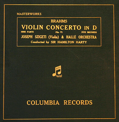 JOSEPH SZIGETI -VIOLINE- &. HALLE ORCH.& HARTY Brahms: Concerto in D Major A168