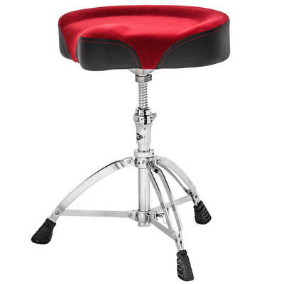 Mapex T765 Drum Throne Saddle Cloth Seat Red - Threaded Base