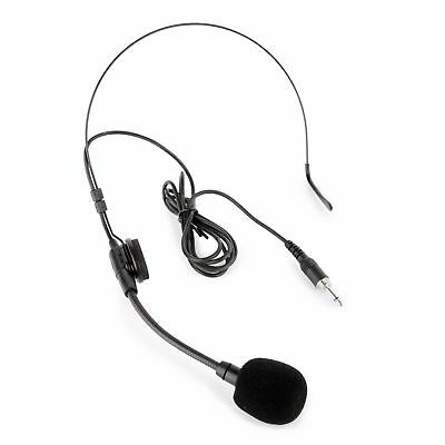 Headset Microphone Wired Head Mounted Flexible Mic 3.5mm Jack