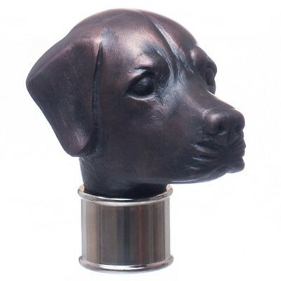 Labrador head Cold Cast Copper Resin Fits 25/26mm Collar walking stick making