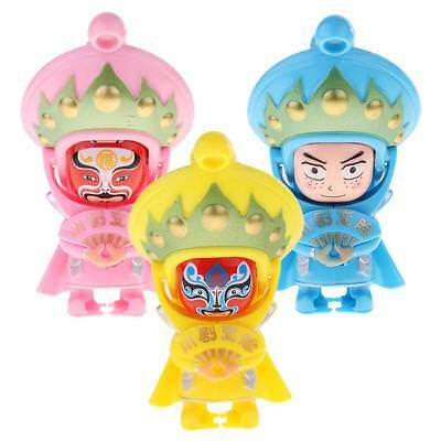 3Pcs Traditional Chinese Doll Accs Changing Art Action Figure Toy Home Decor