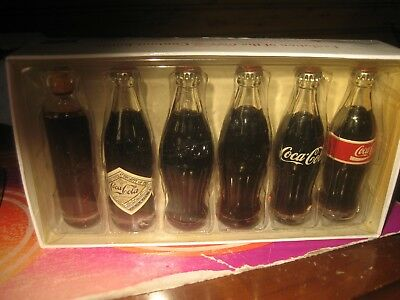 Coca Cola Evolution Mini Set Glass Bottles