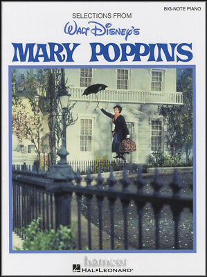 Walt Disneys Mary Poppins Big Note Piano Very Easy Sheet Music Book