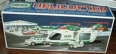 Hess Gasoline '01 Helicopter w/ Motorcycle and Cruiser