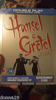 Hansel et Gretel - Witch Hunters Blu-Ray + DVD Steelbook New & Sealed-1000 Only