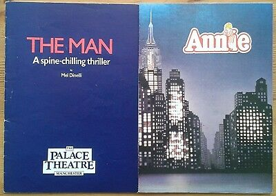 Selection of individual Manchester Palace Theatre programmes 1980s, programme