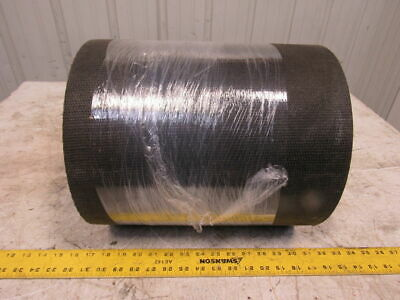 "2-Ply Black PVC Smooth Top Interwoven Fabric Conveyor Belt 48' x 13-7/8"" x .172"""