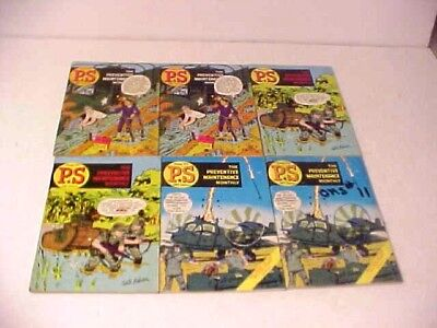 1967 PS The Preventive Maintenance Monthly  Lot of 6   Will Eisner art